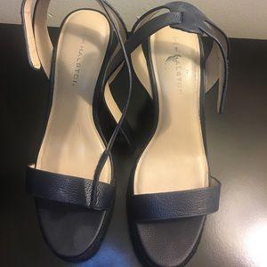 Women's Size 10 Navy Blue Strap Wedge Sandal